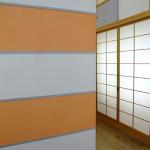 Flächenvorhang Japanpapier Segmente Orange-640x480-opt