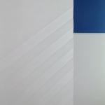 Flächenvorhänge Japanpapier schräge Faltungen