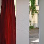 Flächenvorhang Faltung zickzack grünes Fenster - 640x427