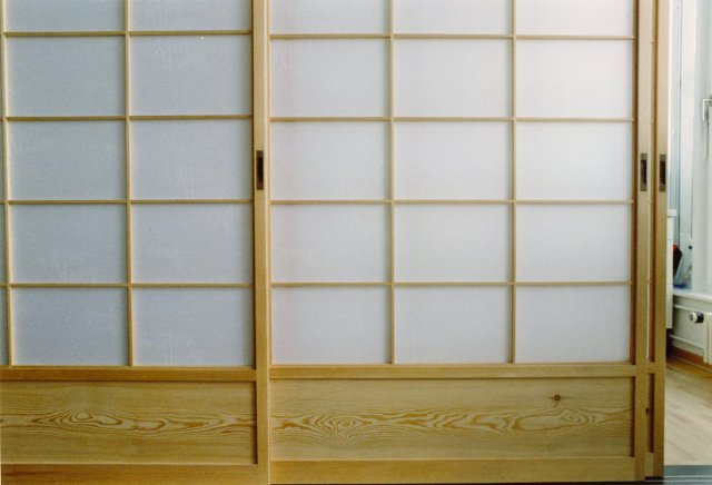 Japanische Wand shoji japanische schiebetüren mit japanpapier bespannt takumi