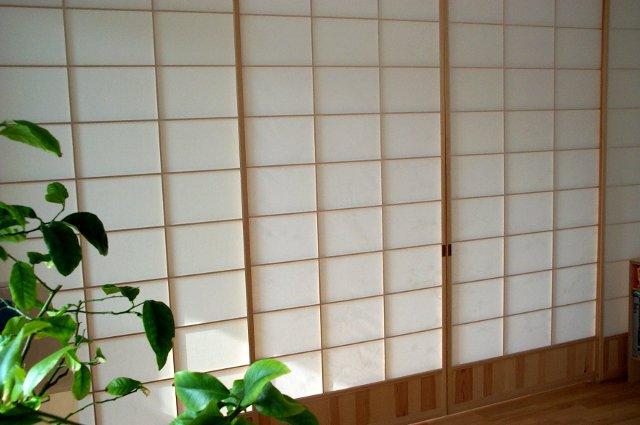 Shoji trennwand kiefer mit f llung - Papier trennwand ...