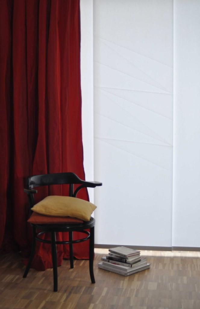 Flächenvorhänge im Origami-Design von Takumi auf der Comfortex